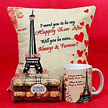 Happily Ever After Printed Cushion and Mug Combo: Valentine's Day Gifts to Al Ain
