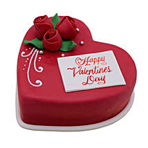 Heart Shaped Valentine Cake 1Kg: Valentine's Day Gift Delivery in Al Ain