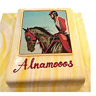 Horse Racing Photo Cake: Personalized Gifts Dubai UAE