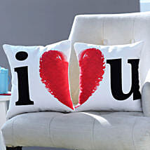 I Love You Printed Cushion Set: Personalized Gifts Dubai UAE