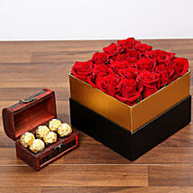 Idyllic Red Roses and Chocolates: Send Same Day Flowers to Abu Dhabi