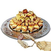 Lumba with Baklava Sweets: Rakhi Delivery in Sharjah