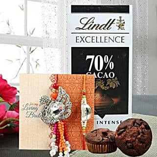 Luxurious chocolate combo: Send Rakhi to Fujairah