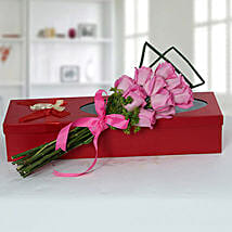 Mesmeric Pink Roses Bouquet: Send Roses to UAE