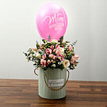 Mixed Flower Array and Balloon for Mothers Day: Send Mother's Day Gifts to UAE