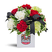 National Day Exquisite Arrangement: Carnations to UAE