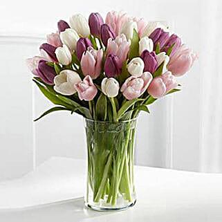 Painted Skies Tulip Bouquet: Flower Arrangements to UAE