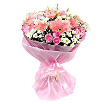 Pink n Pretty: Same Day Anniversary Flower Bouquets in UAE