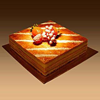 Plain Mille Feuille: Send Cakes to Ajman