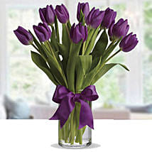 Purple Tulip Arrangement: Birthday Flower Delivery in UAE