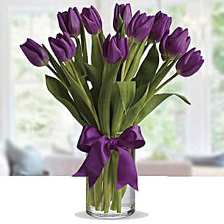Purple Tulip Arrangement: Dubai Flower Delivery