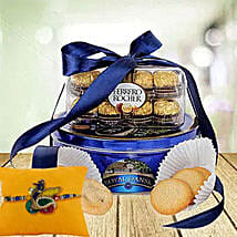 Rakhi with Choco Cokkie Delight: Rakhi for Brother in UAE