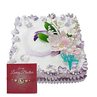 Rakhi with Exotic Cake: Send Rakhi to Sharjah