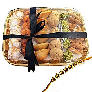 Rakhi with Sweet Platter: Send Rakhi for Brother to UAE