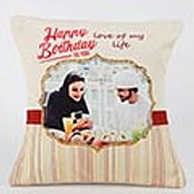 Romantic Birthday Personalized Cushion: Birthday Gift Delivery in UAE