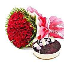 Roses n Blueberry Cheese Cake: Xmas Gifts for Parents to UAE