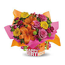 Rosy Birthday Present: Same Day Flowers for Him in Dubai UAE