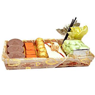 Stylish Raksha Bandhan Complete Set: Rakhi Delivery in Dubai