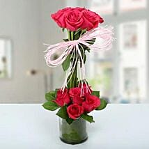 Two Storied Floral Arrangement: Valentine's Day Gifts for Her to UAE