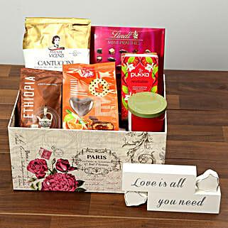 Valentine Special Chocolate and Coffee Hamper: Valentine's Day Hampers to UAE
