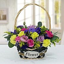 Vibrant Flower Basket: Carnations to UAE