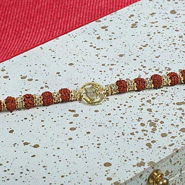 Aum Bracelet with Rudraksh