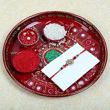 Aum Fancy Rakhi and Puja Thali