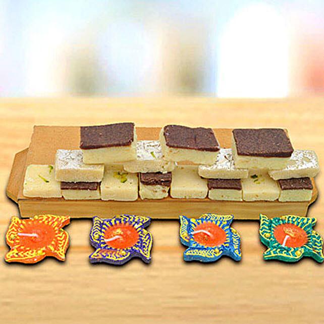 Chocolate Barfi Diwali Celebration