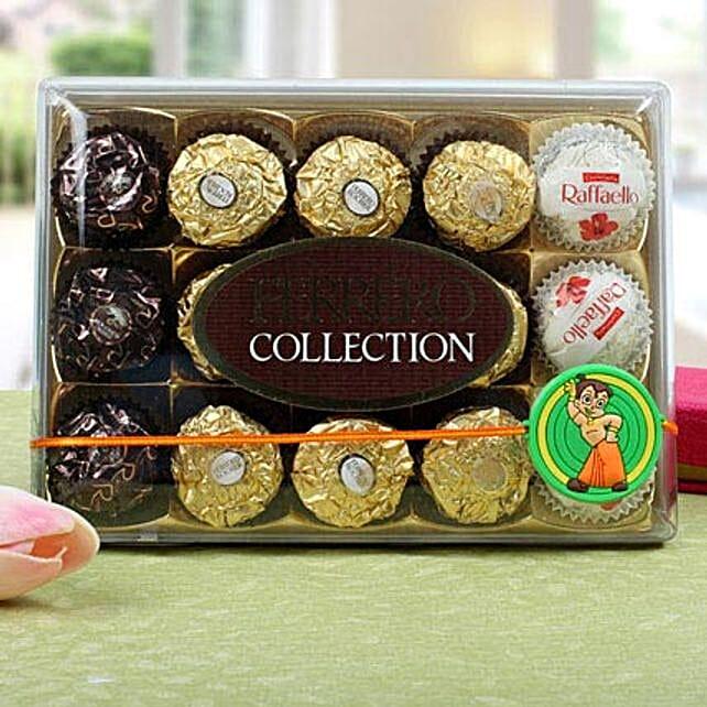 Chota Bheem Ferrero Rocher Rakhi Hamper