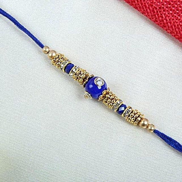 Elegant blue designer rakhi thread