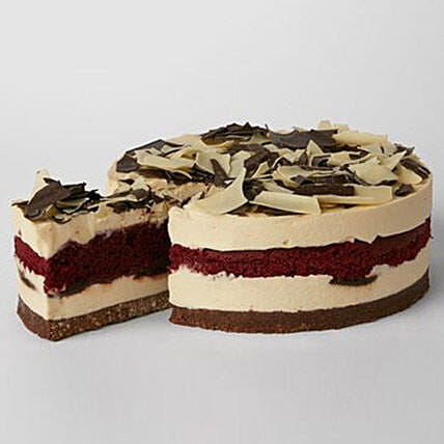 Simply Red Velvet Cheesecake