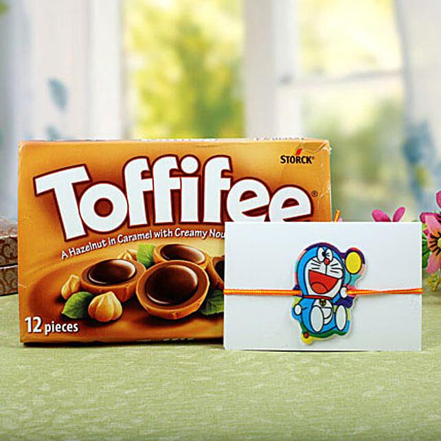 Toffiee with Cartton Doraemon Rakhi