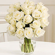 24 Fairtrade White Roses: Send Flowers to Newcastle UK