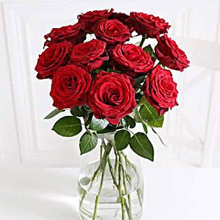 A Dozen Burgundy Roses: Roses