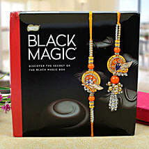 Assorted dark chocolates bhaiya bhabhi Rakhi Set: Send Rakhi to Glasgow