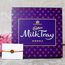 Aum Rakhi with Milk Chocolates: Send Rakhi to Leeds