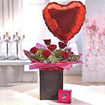 Be Mine Chocolate and Balloon Gift Set: Rose Day Gift Delivery in UK