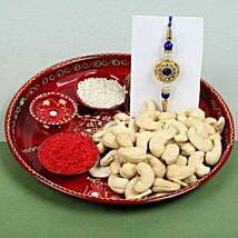 Celebration Cashew Nuts with Rakhi: Rakhi for Brother - UK