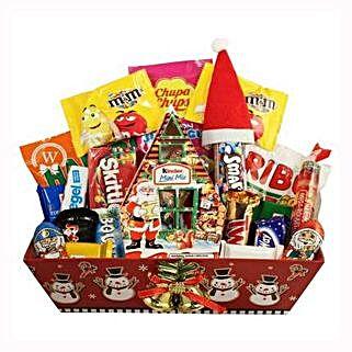 Christmas Retro Sweet Gift Basket: Christmas Gifts to UK