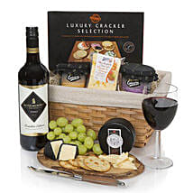 Christmas Wine Cheese And Pate Hamper: Christmas Gift Hampers to UK