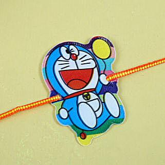Doraemon funny kids Rakhi: Send Rakhi for Kids to UK