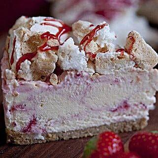 Eton Mess Strawberry Cheesecake: Valentine Cake Delivery in UK