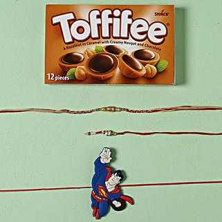Family Rakhi Set Hamper with Toffiee Chocolates:
