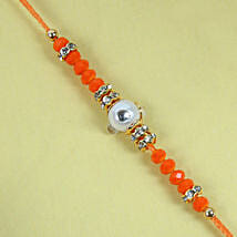 Fancy Orange Diamond Rakhi: Rakhi for Brother - UK