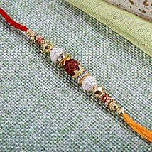 Fancy Rudraksh Rakhi: Rakhi to Glasgow