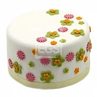 Flower Duet Cake: Order Cakes to UK