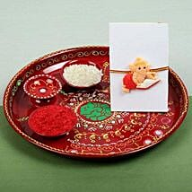 Kids Ganesh Rakhi and PujaThali: Rakhi to Glasgow