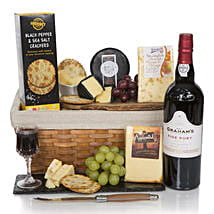 Luxury Port And Cheese Hamper: Christmas Gift Hampers to UK