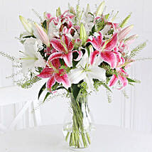 Mixed Lilies: Birthday Flower Bouquets to UK