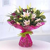 Opulent Lilies: Women's Day Gift Delivery in UK